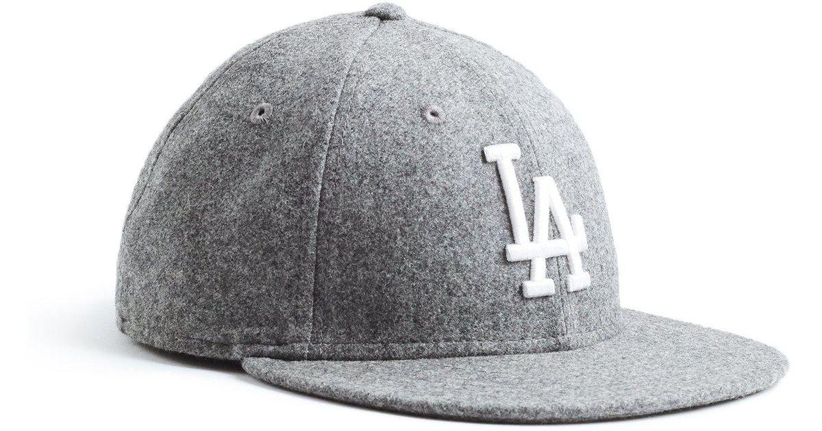 Lyst - NEW ERA HATS Exclusive La Dodgers Hat In Italian Barberis Wool  Flannel in Gray for Men 911cc292fa4d