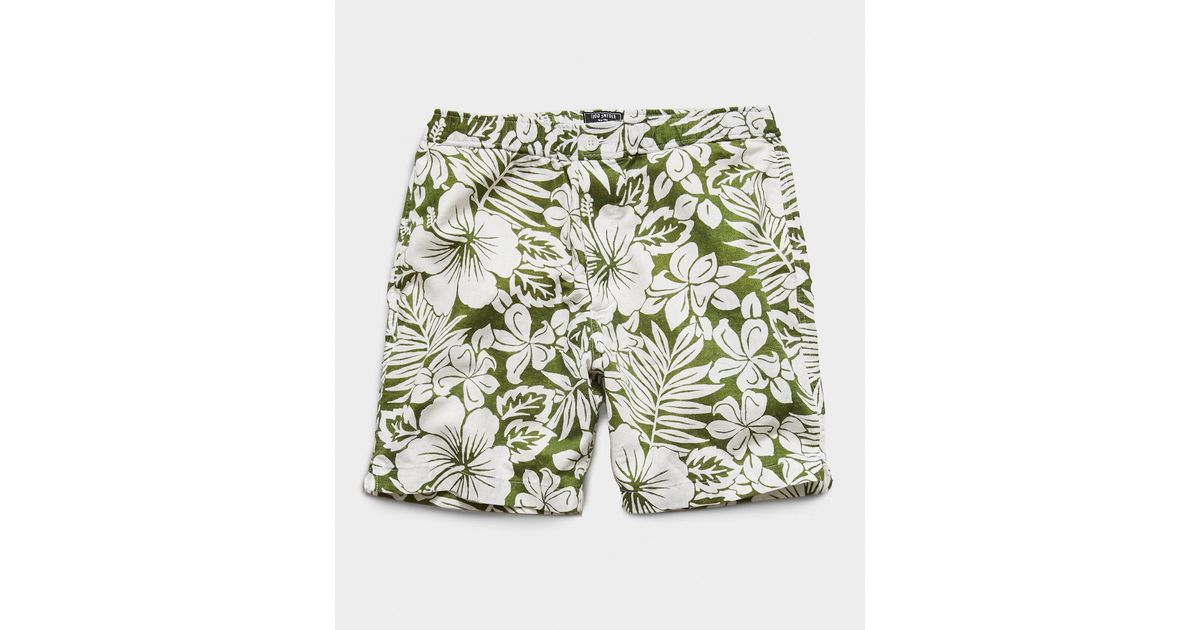 """Todd Synder X Champion Cotton 7"""" Pool Short in Green for ..."""