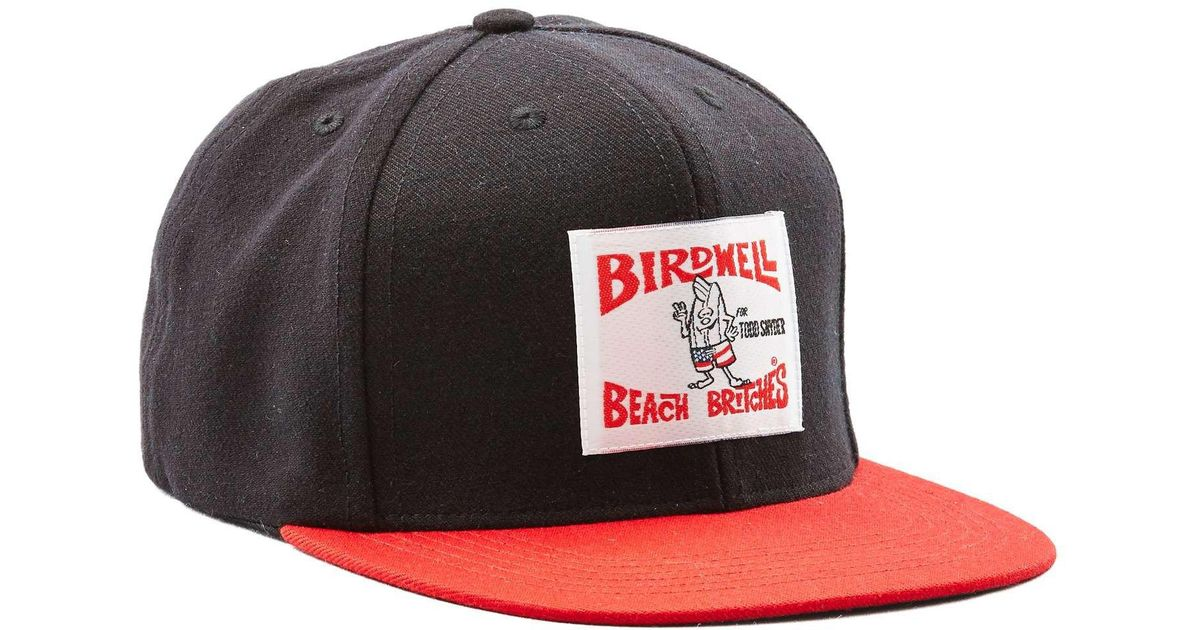 8d1e52ba3ec Lyst - Todd Snyder Exclusive Birdwell 6-panel Hat In Black With Red Brim in  Black for Men