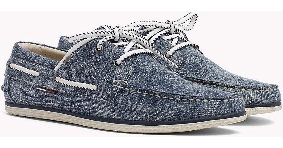 Tommy Hilfiger Denim Boat Shoes in Blue