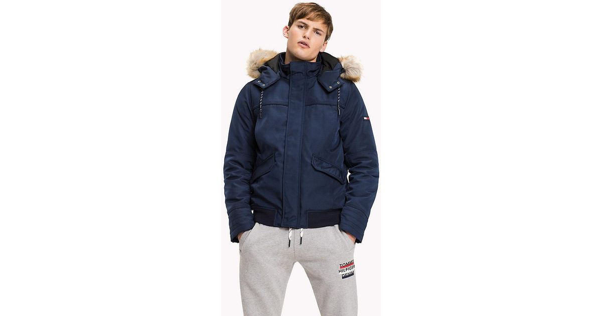 8027aaad1 Tommy Hilfiger Durable Polyester Technical Bomber in Blue for Men - Lyst