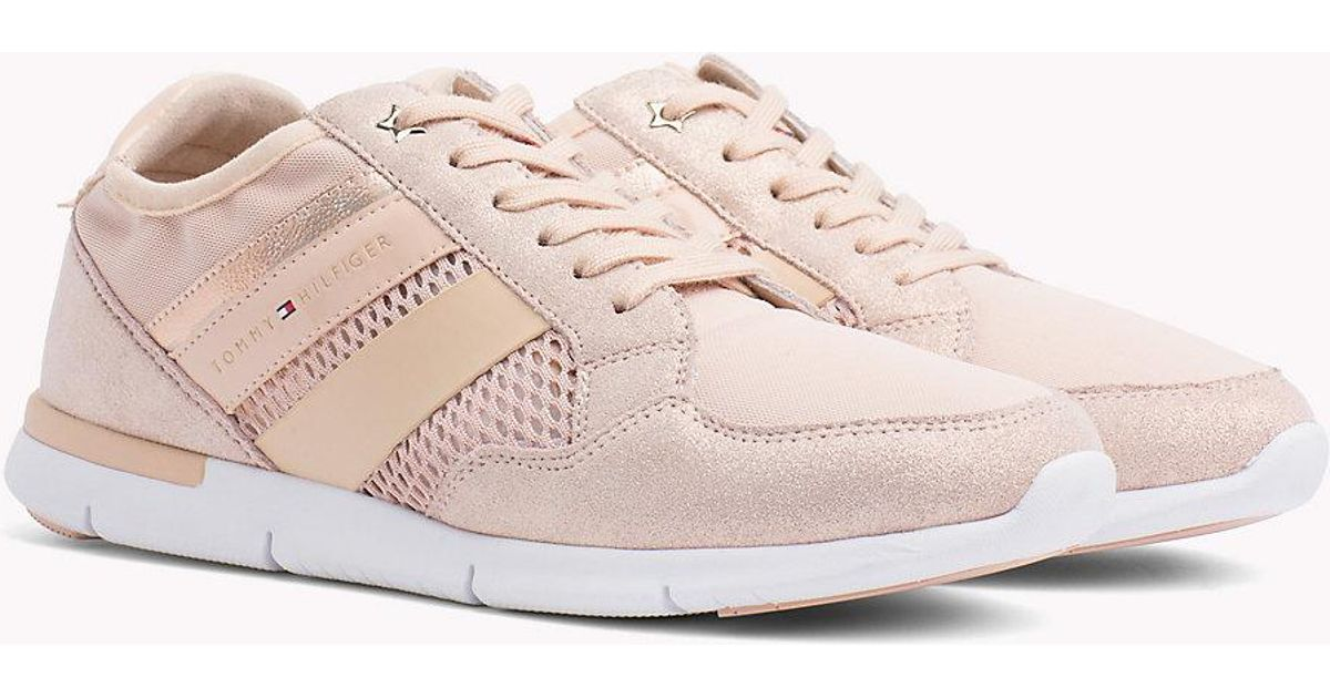 Tommy HilfigerMETALLIC LIGHT WEIGHT LACE UP - Trainers - pink xoKD6E9oW