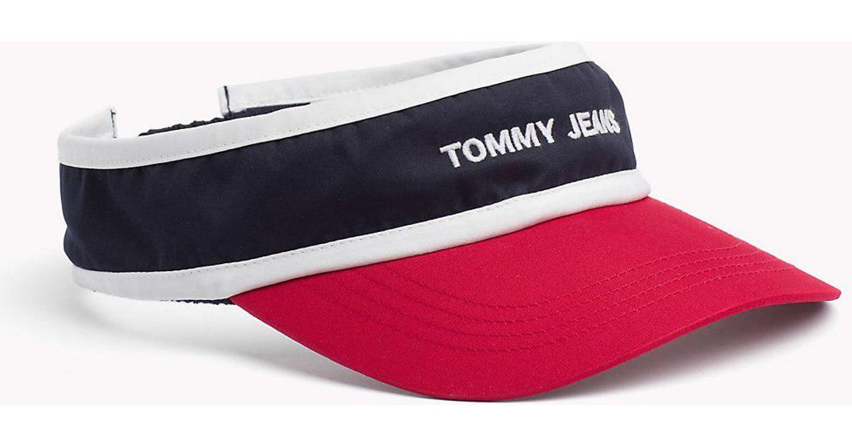 Tommy Hilfiger Tommy Jeans Logo Visor in Blue - Lyst 14a1d43e7cc