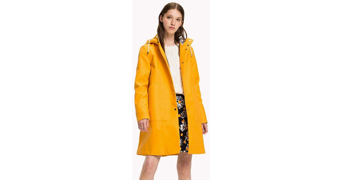 2020 Clearance sale top quality Tommy Hilfiger Yellow Classic Rain Coat