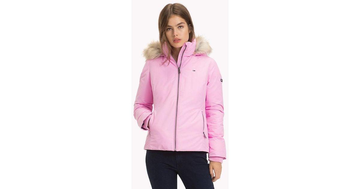 27ca48b15 Tommy Hilfiger Pink Hooded Down Jacket