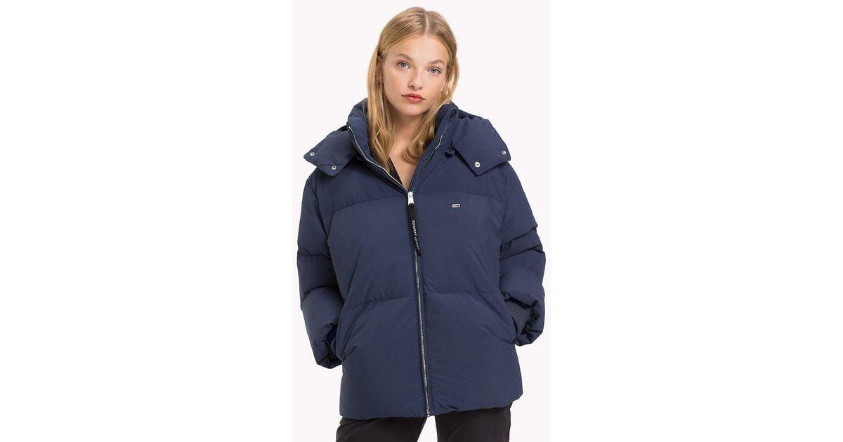 6089a4bd6 Tommy Hilfiger Blue Oversized Puffer Jacket