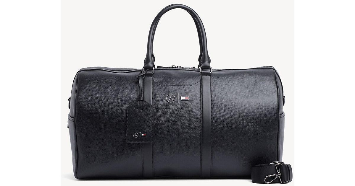 33f3b2ef5f Tommy Hilfiger Mercedes-benz Leather Holdall in Black for Men - Lyst