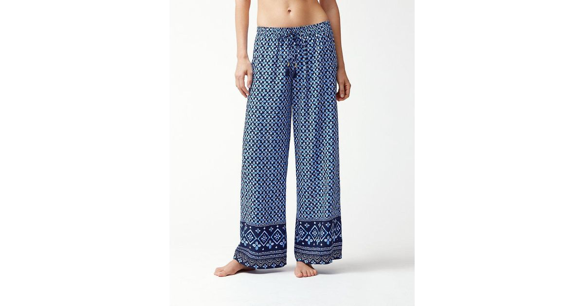 940bd7c278 Tommy Bahama Indigo Cowrie Beach Pant Cover-up (mare Navy) Swimwear in Blue  - Save 10% - Lyst