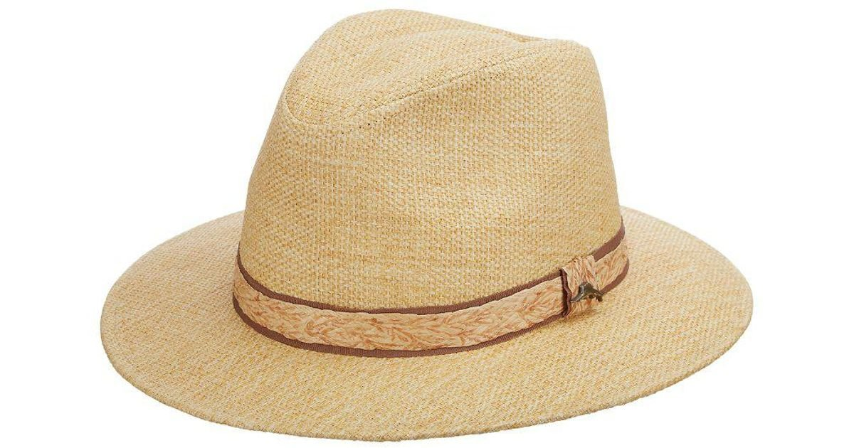 7e1a784953d Lyst - Tommy Bahama Matte Toyo Safari Hat in Natural for Men