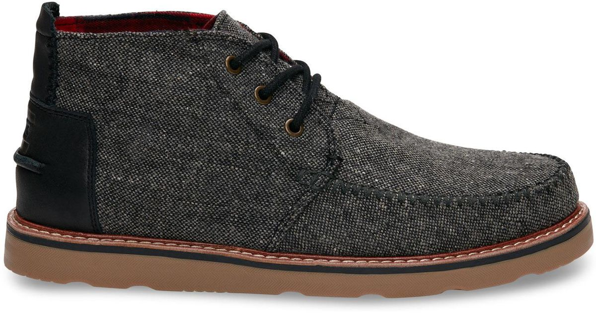 91555c58ab7 TOMS Gray Charcoal Fleck Men's Chukka Boots for men