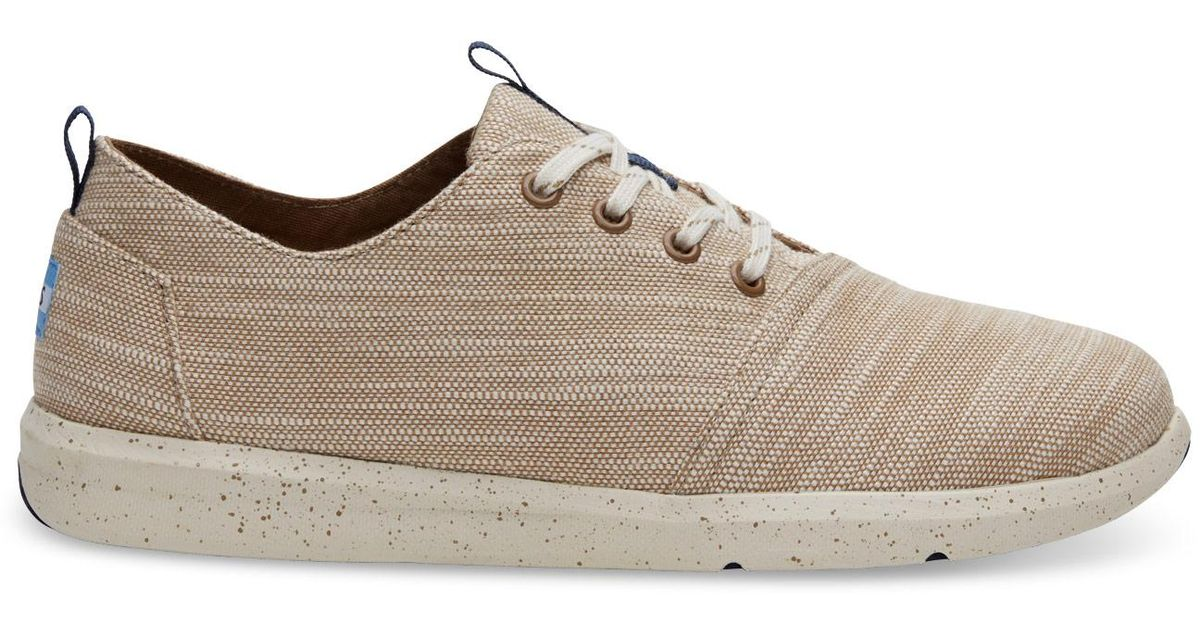 3c1c27f3989 Lyst - TOMS Desert Taupe Slubby Linen Men s Del Rey Sneakers for Men