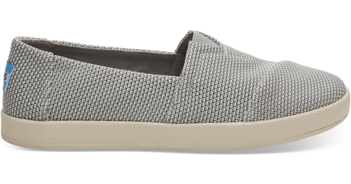 TOMS Rubber Drizzle Grey Technical Knit