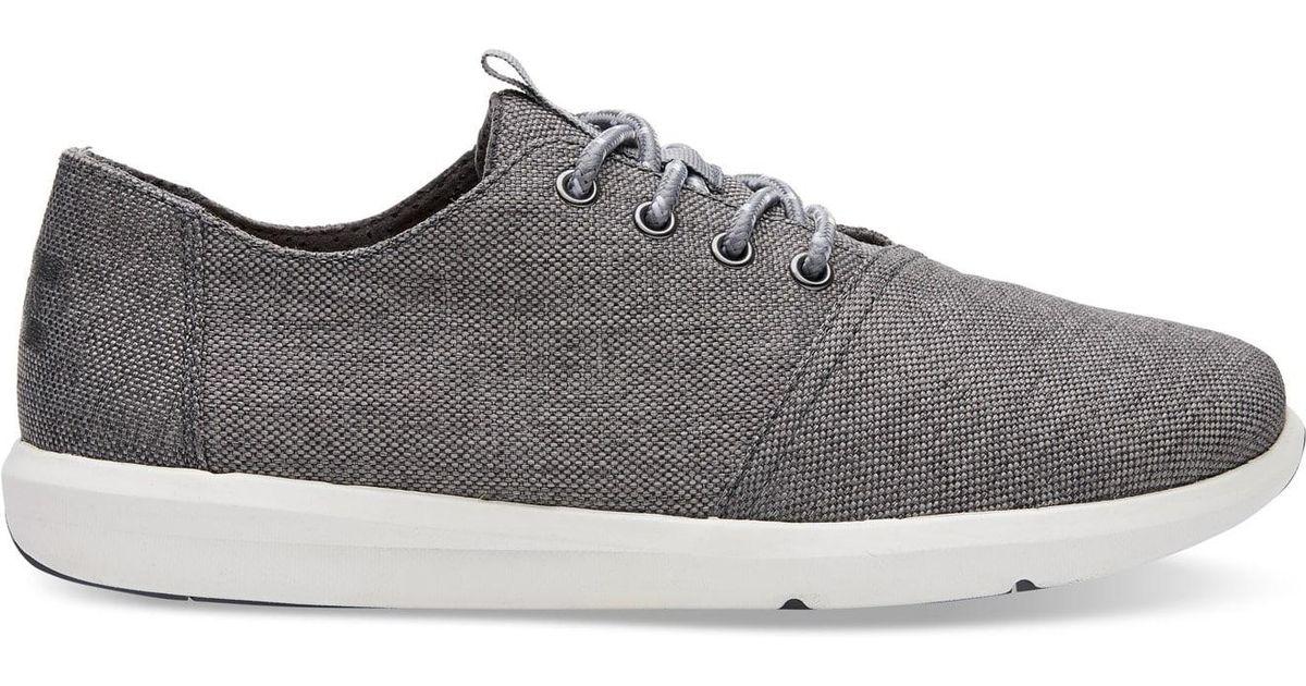 d7eab6b44b7 Lyst - TOMS Steel Grey Poly Canvas Men s Del Rey Sneakers in Gray for Men