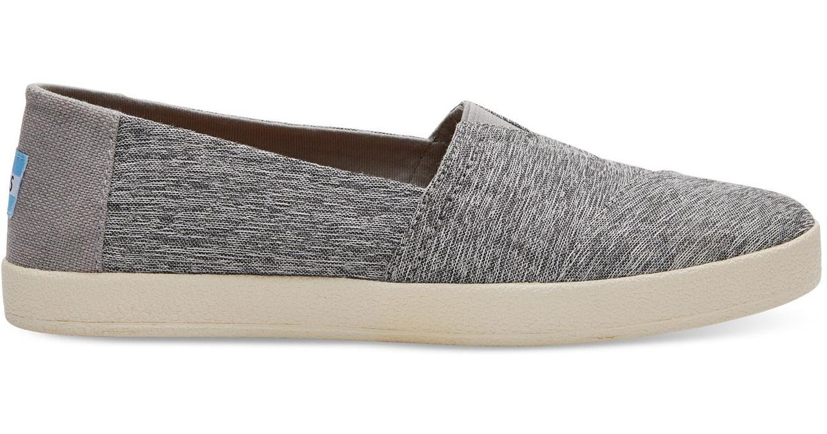 TOMS Cotton Forged Iron Grey Space Dye