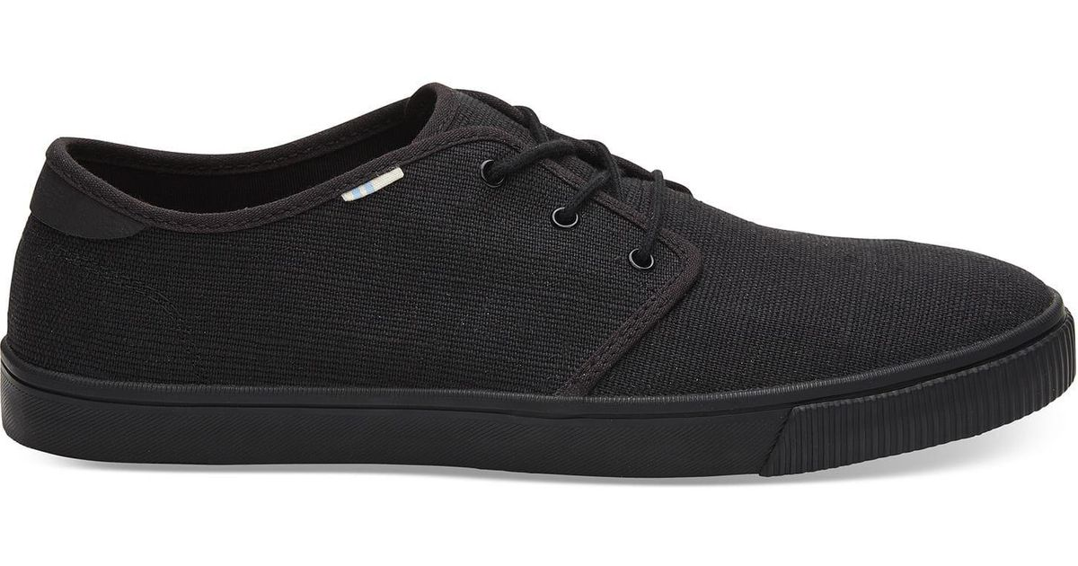 TOMS Canvas Carlo Sneakers in Black for