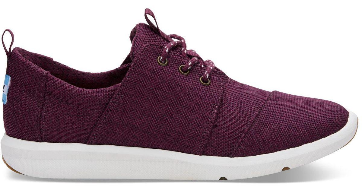 60398e4d008 Lyst - TOMS Black Cherry Poly Women s Del Rey Sneakers