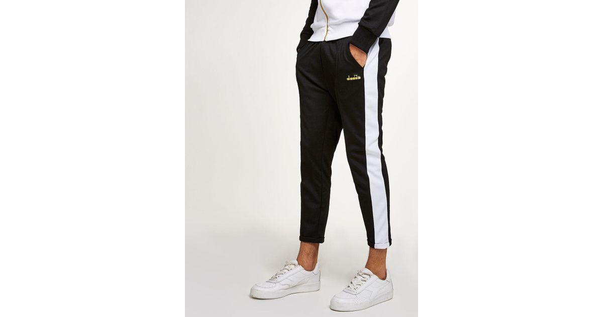 01f035f0 Topman Diadora Black And White 80's Track Pant for men