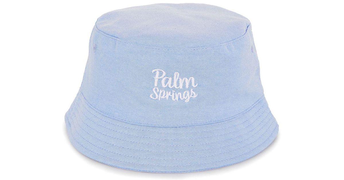 a3f783014dd Lyst - TOPMAN Light Blue Palm Springs Bucket Hat in Blue for Men