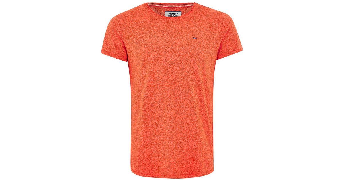 5a9c0ee3 Lyst - TOPMAN Tommy Jeans Orange Textured T-shirt in Orange for Men
