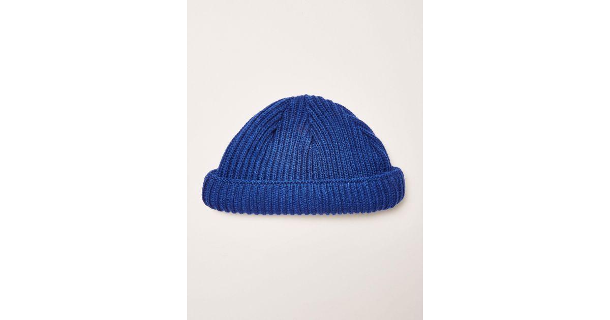 f53cb62e61e Lyst - TOPMAN Ribbed Docker Beani in Blue for Men