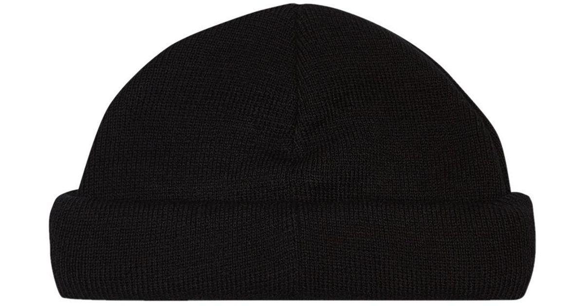 111f1aedf41af TOPMAN Black Mini Roll Beanie in Black for Men - Lyst
