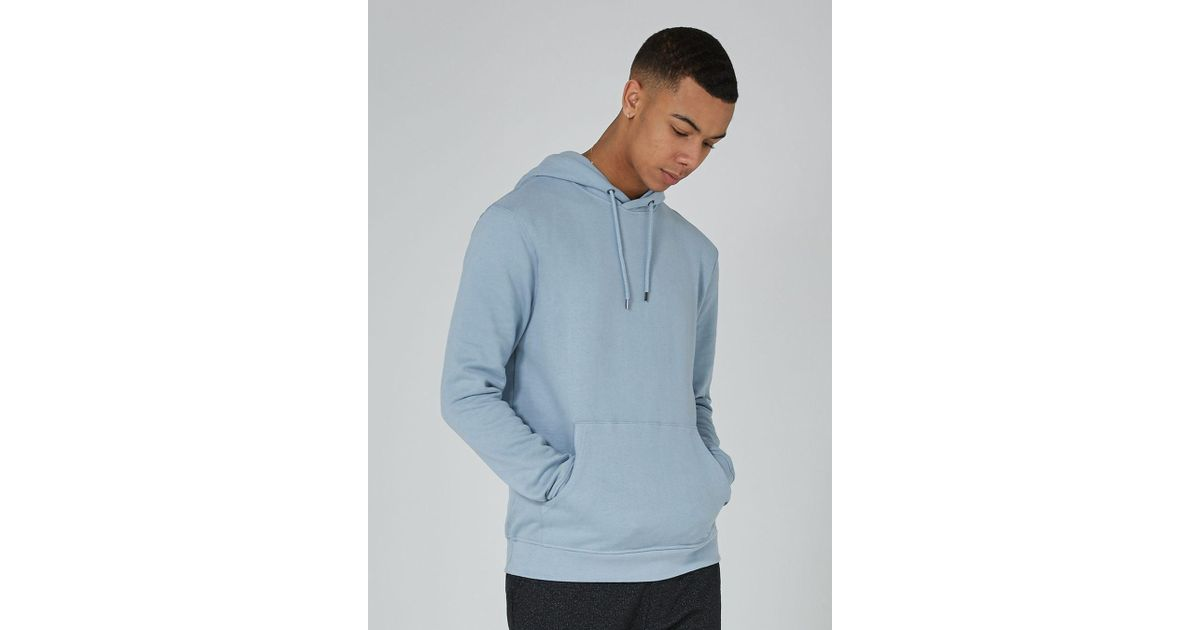 4c1e53eb TOPMAN Light Pastel Blue Hoodie in Brown for Men - Lyst
