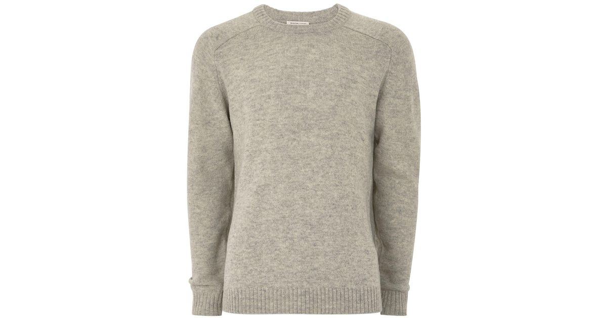 Topman Selected Homme Light Gray Coban Wool Sweater in Gray for ...
