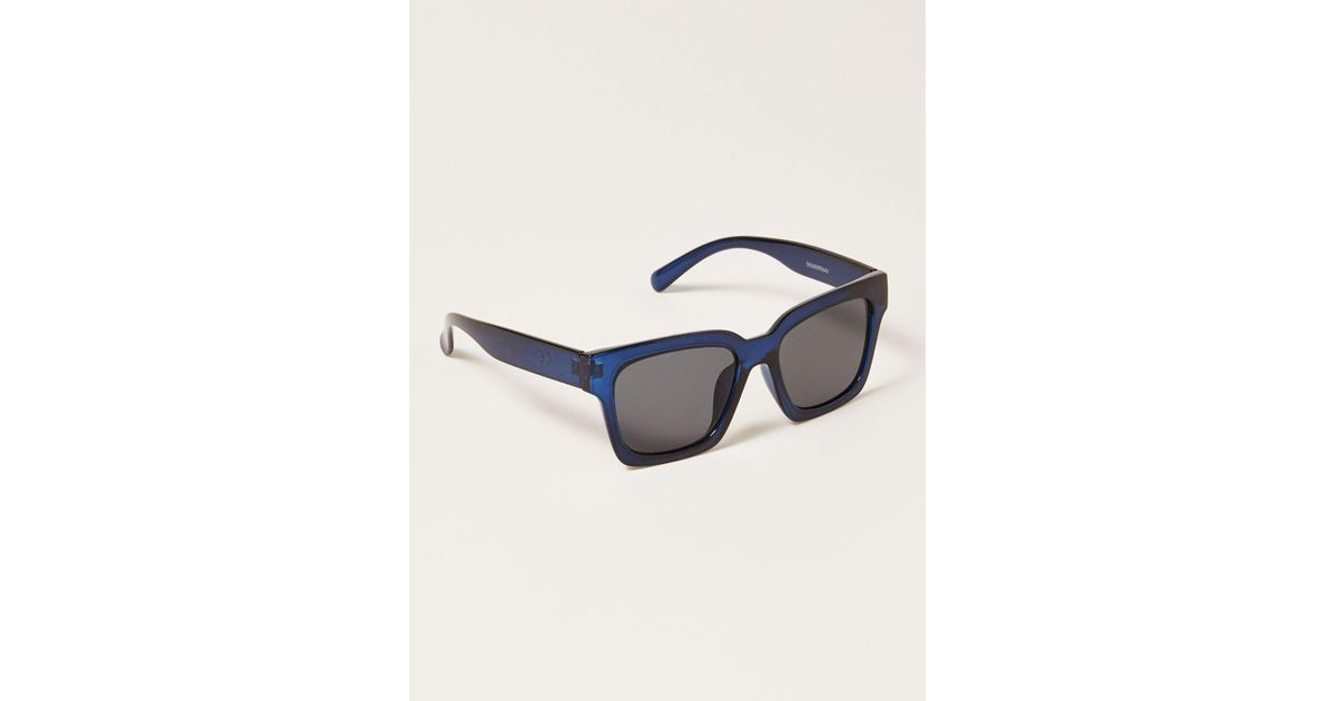 d13b104144af6 TOPMAN Navy Square Chunky Sunglasse in Blue for Men - Lyst