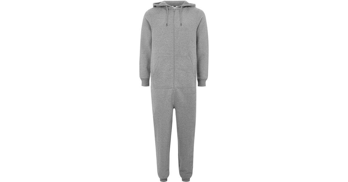 Lyst - Topman Grey Jersey Onesie in Gray for Men