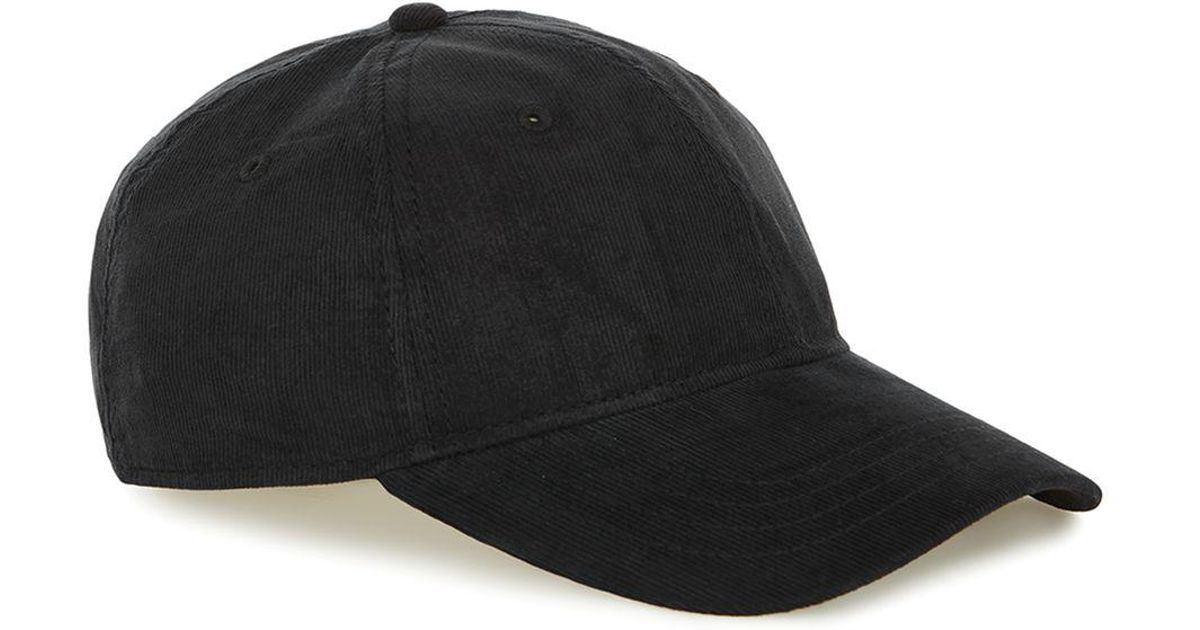 93cf134f5 Topman Black Mini Corduroy Curve Peak Cap for men