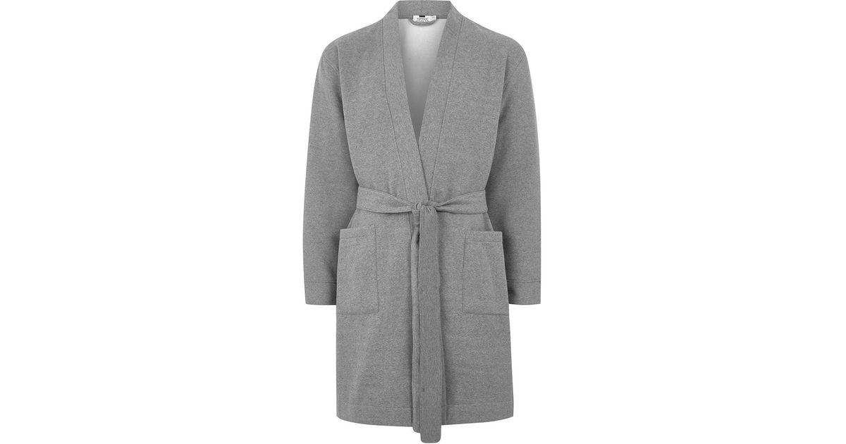 Lyst - Topman Grey Jersey Dressing Gown in Gray for Men