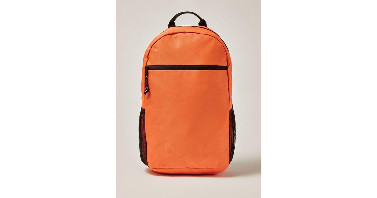 TOPMAN Orange Backpack in Orange for Men - Lyst 93b76e44ba