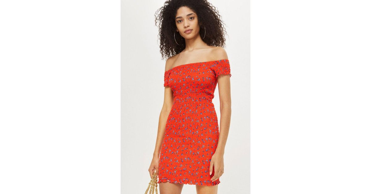 new products watch wholesale sales TOPSHOP Shirred Ditsy Bodycon Dress