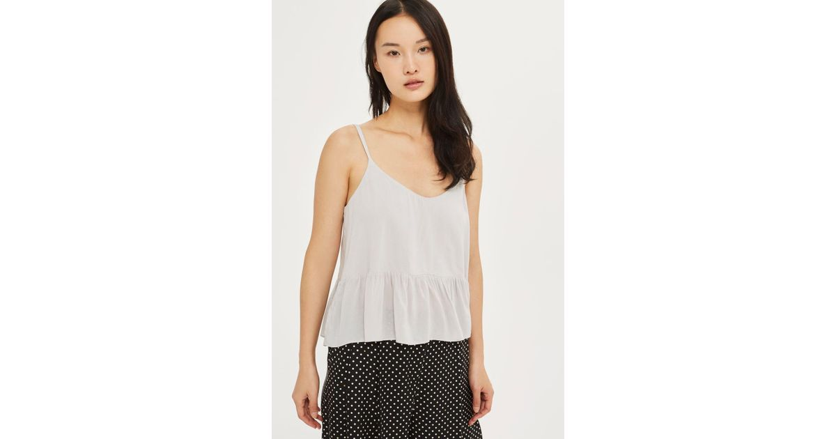 51d95003355fa8 Lyst - Topshop Tall Casual Camisole Top in Gray
