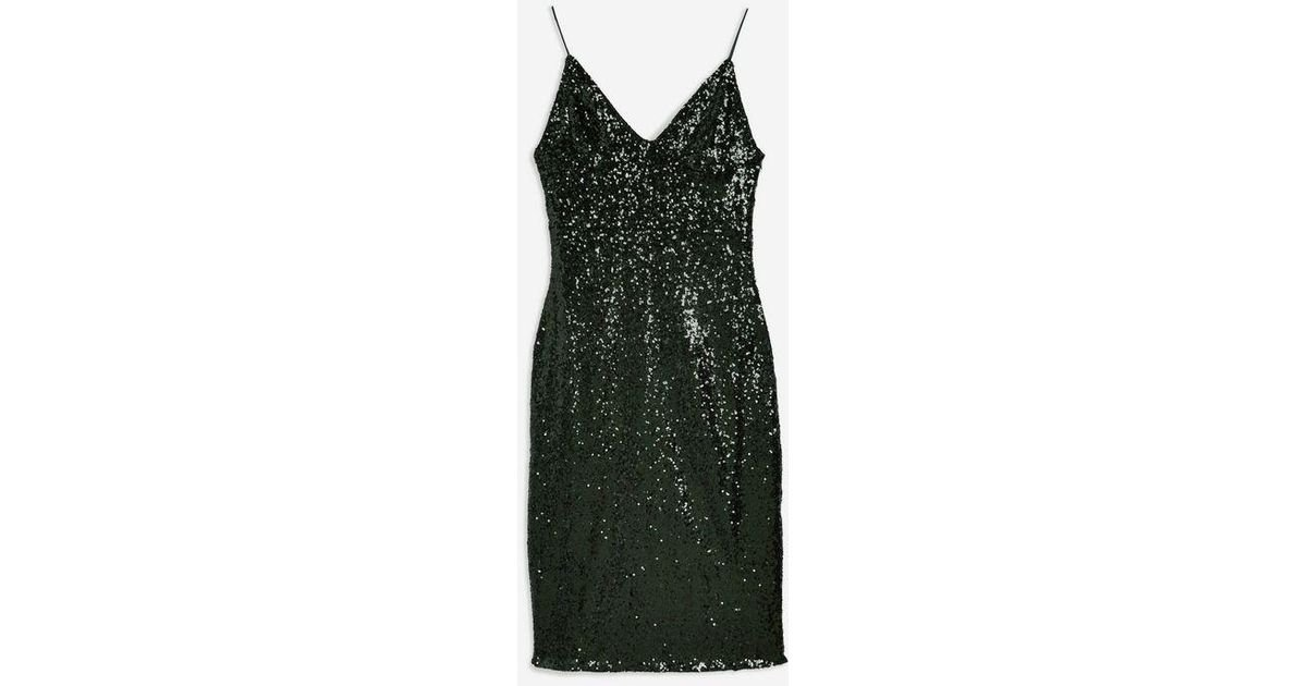 99fc8e530856a Club L sequin Cami Midi Dress By in Green - Lyst