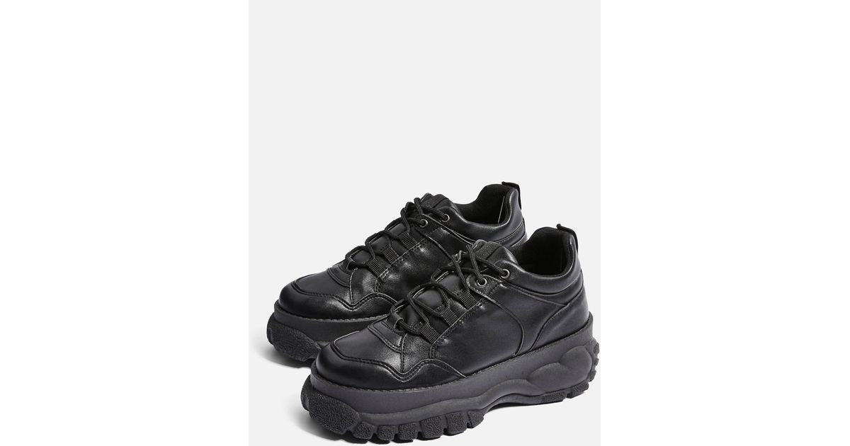 TOPSHOP Cairo Chunky Trainers in Black