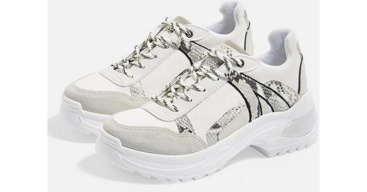 081883f832251 TOPSHOP Chicago Bubble Trainers in Gray - Lyst