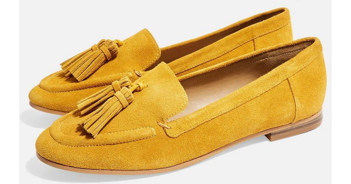58245d309c3 Lyst - TOPSHOP Lexi Loafer (women) in Yellow