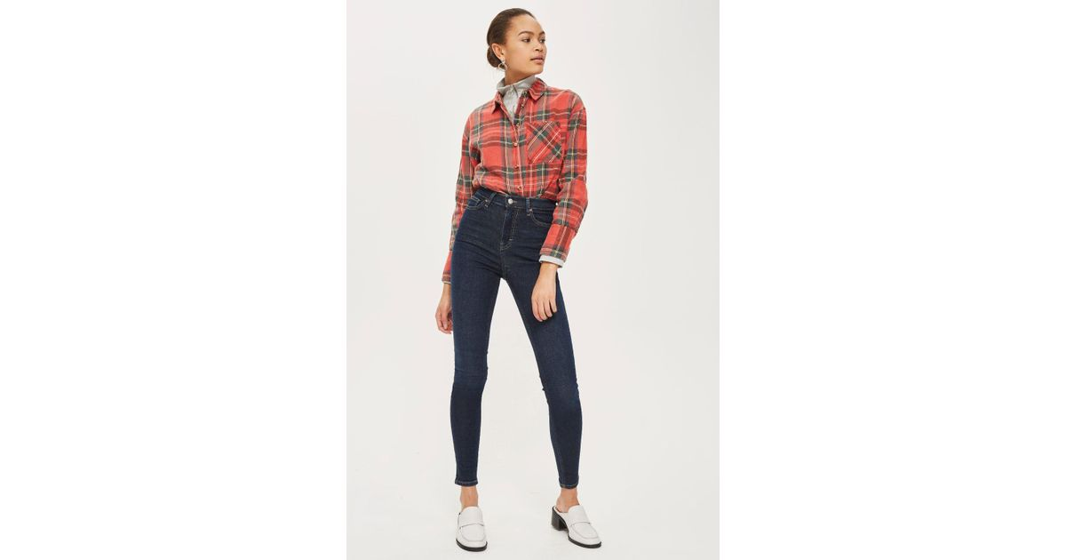 b0fbe162c0 Lyst - TOPSHOP Tall Dark Indigo Jamie Jeans in Blue