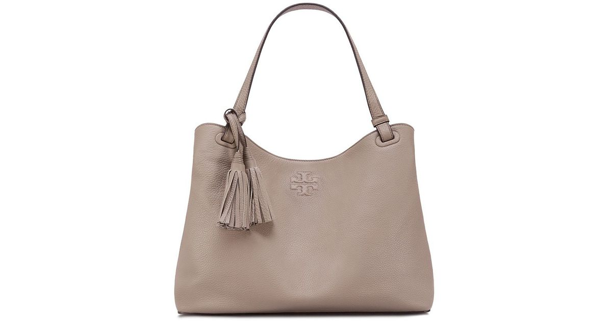 Tory Burch Thea Center Zip Tote In Natural Lyst