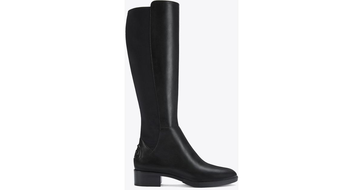 2fa604281c75 Tory Burch Caitlin Stretch Boot in Black - Lyst