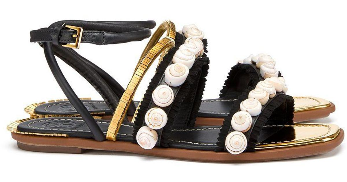 6ad03ba4309254 Lyst - Tory Burch Sinclair Sandal in Black