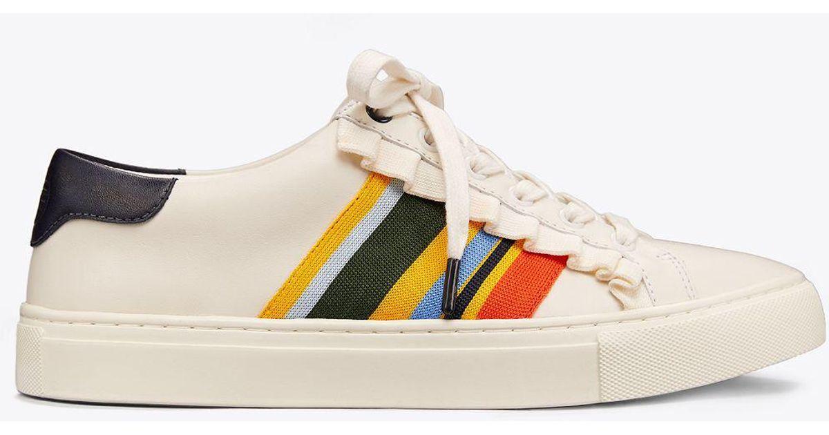 bae5129ac6e Tory Sport Ruffle Sneaker in White - Lyst