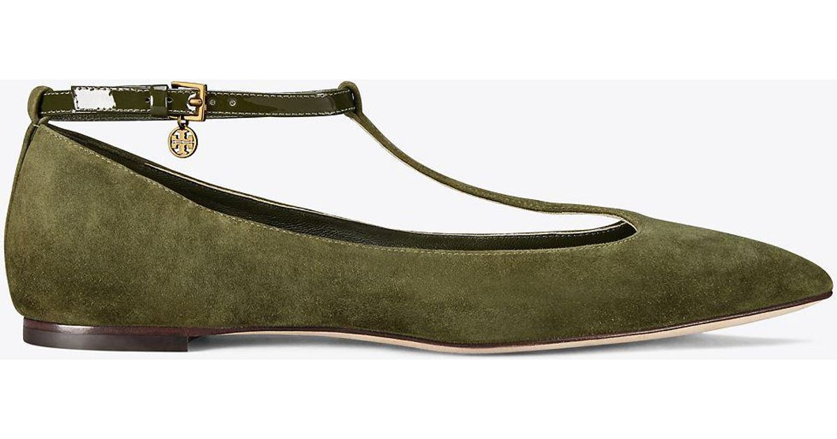 14075e18173f5e Tory Burch Ballet Flats in Green - Save 56% - Lyst