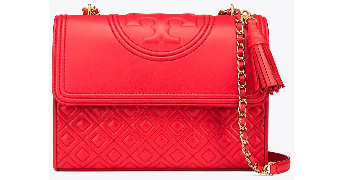 38b86cceef3c6 ... usa lyst tory burch fleming convertible shoulder bag in red 65a87 e258a