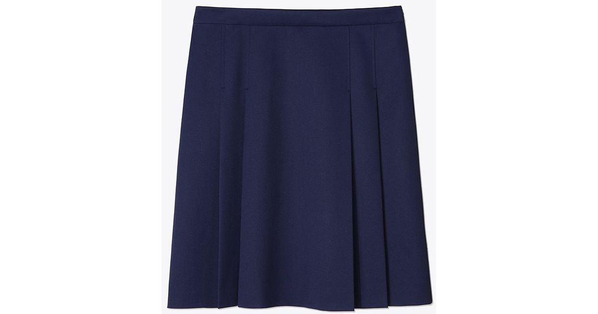 5582fd7b77 Lyst - Tory Sport Tech Twill Pleated Golf Skirt in Blue