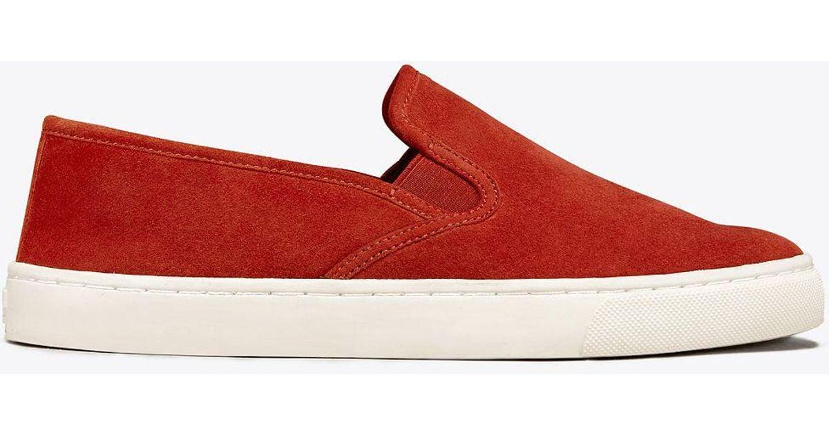Tory Burch Suede Max Slip-on Sneaker in