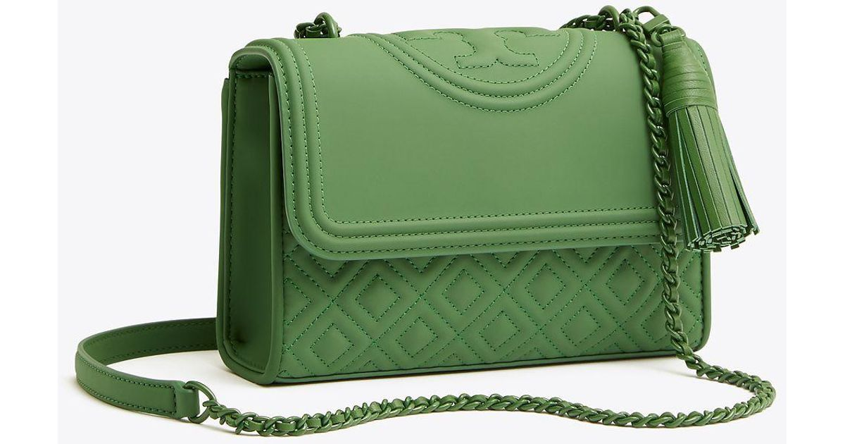 24d7c4fc92a0 Lyst - Tory Burch Fleming Matte Small Convertible Shoulder Bag in Green