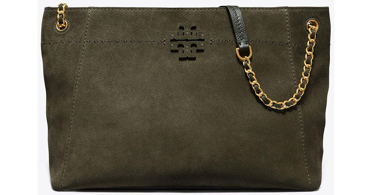 8f88a9f838e9 Tory Burch Mcgraw Suede Chain-shoulder Slouchy Tote - Lyst