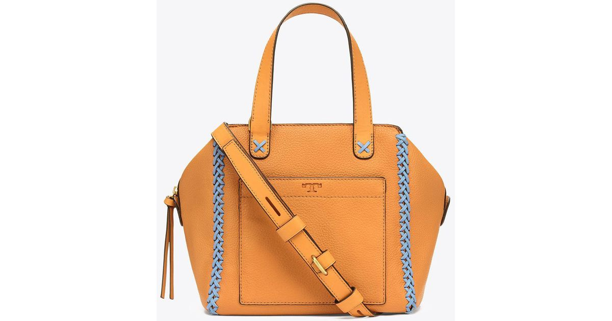 bcc1a8018df Lyst - Tory Burch Whipstitch Mini Satchel
